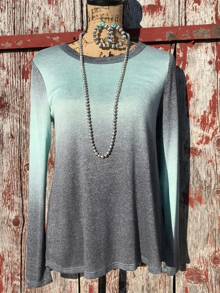 Ombre Mint Top