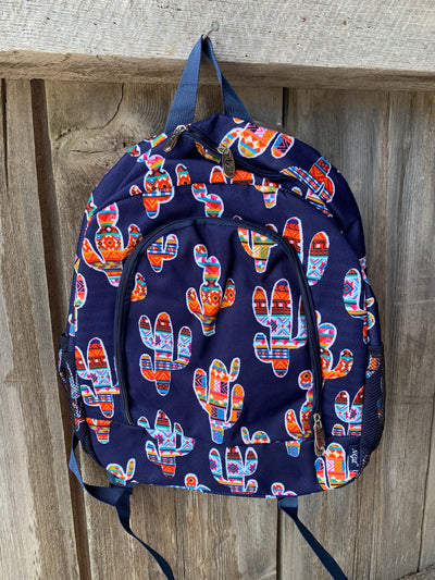 Colorful Cactus Print Backpack