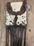 Buck Stitch Betty Cowhide Fringe Purse