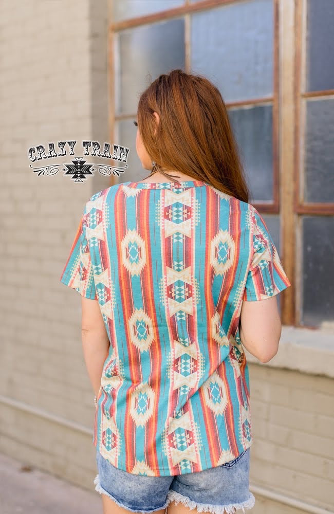 Gallup Girl Aztec Top