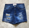 Sequin Jean Shorts