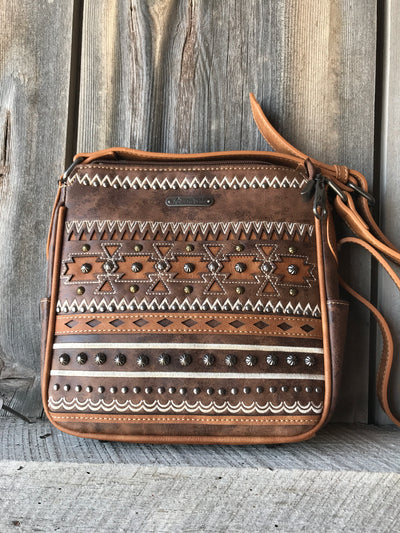 Aztec Studded Purse or Wallet - Ropes and Rhinestones