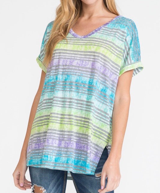 Watercolor Stripe Top