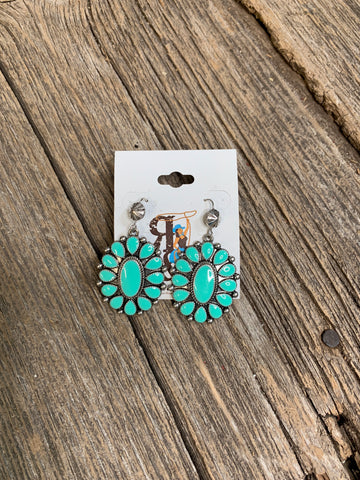 Turquoise Enamel Earrings