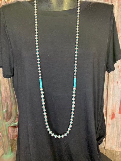 Navajo Pearl & Turquoise Style Necklace Set