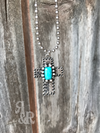 Silver & Turquoise Cross Necklace Set