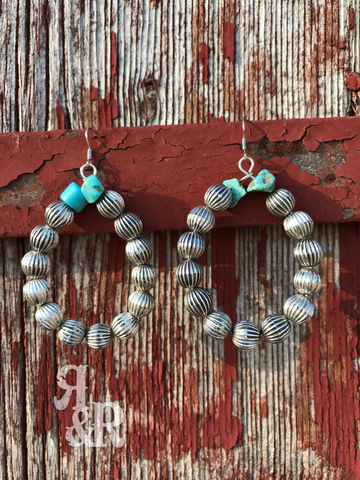 Santa Fe Silver Hoop Earrings