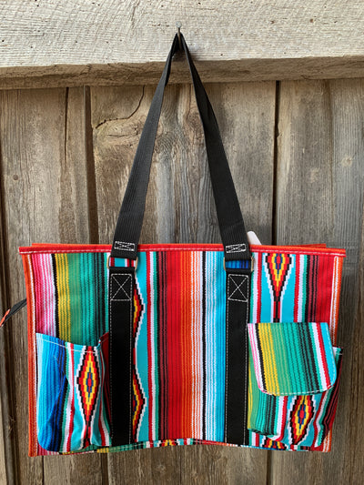 Serape Zippered Tote Bag