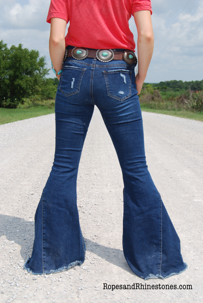 Bell Bottom Jeans - Ropes and Rhinestones