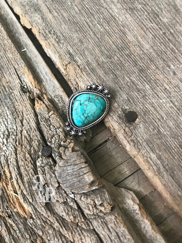 Turquoise Isac Adjustable Ring