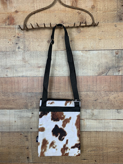 Cow Print Messenger Hipster Bag
