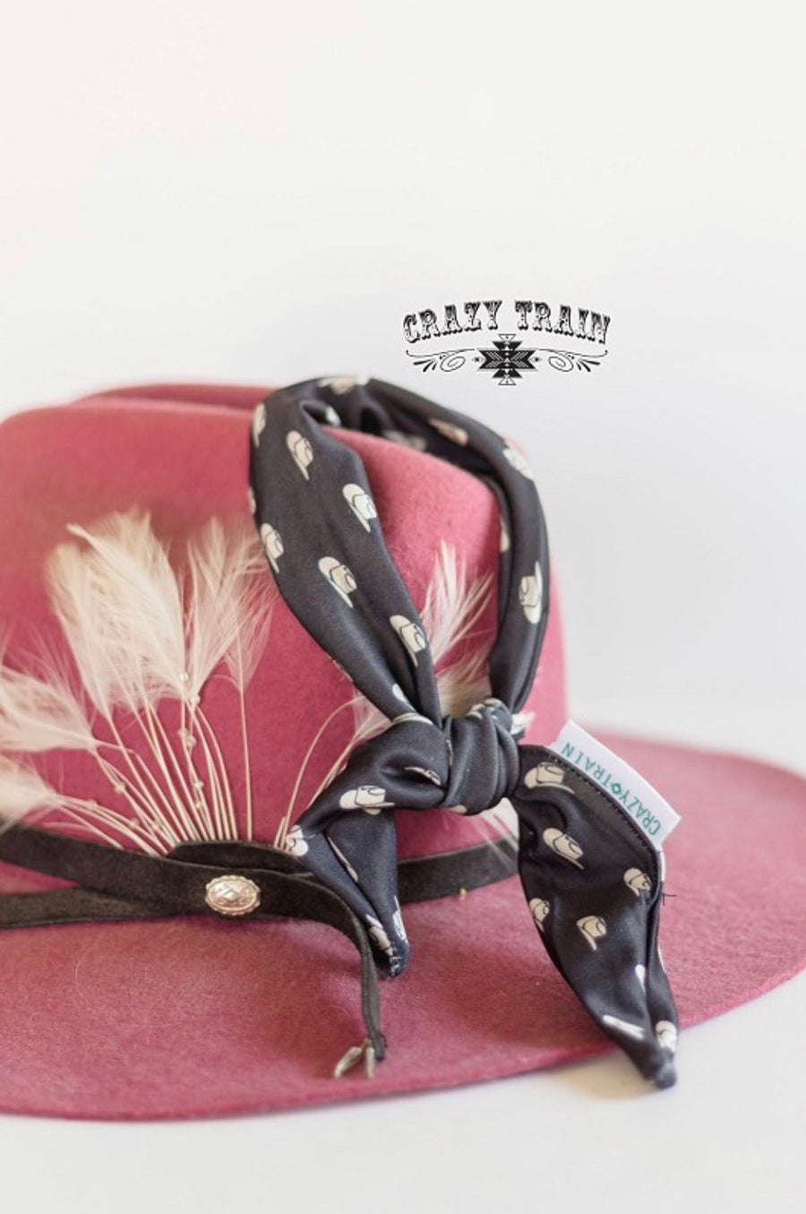 Ten Gallon Cowboy Hat Tie Headband