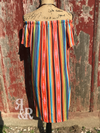 Serape Off The Shoulder Dress