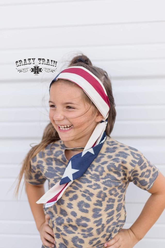 Kids Starwest Headscarf Stars & Stripes