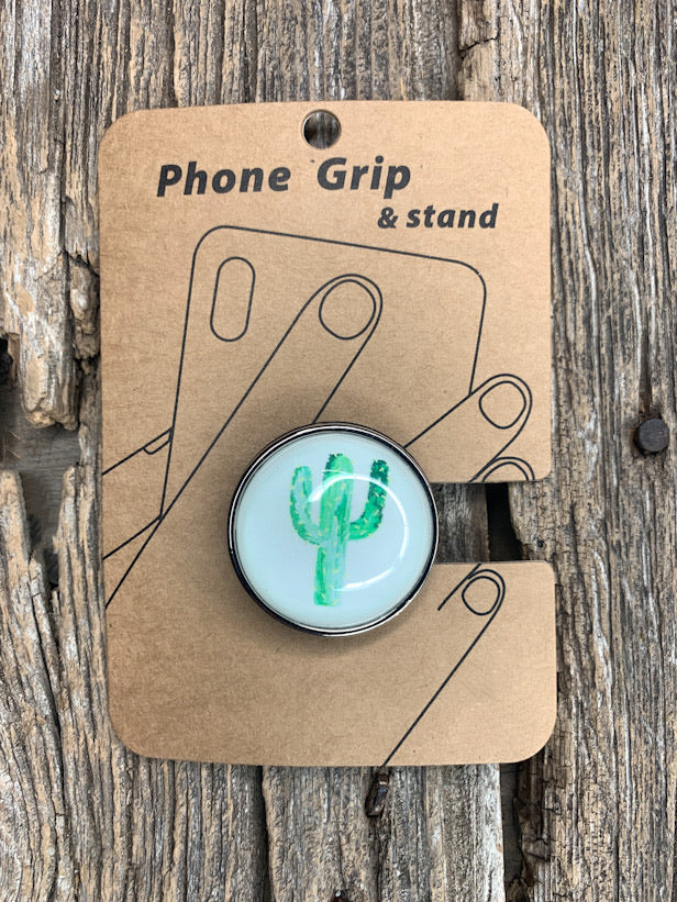 Cactus Bubble Phone Grip