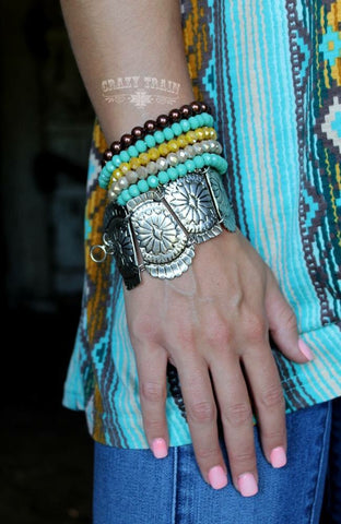 Concho Queen Bracelet - Ropes and Rhinestones
