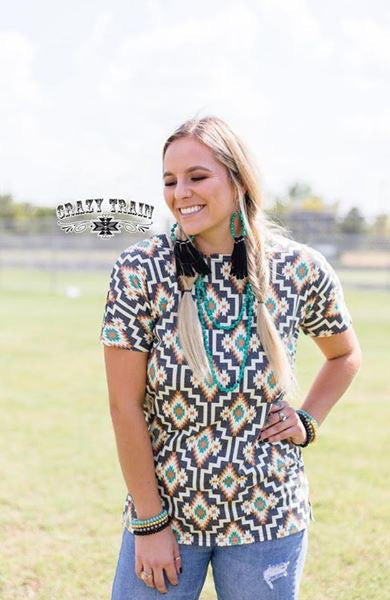 Brazos Backdrop Aztec Top