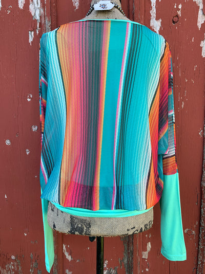 Flatter Flow Serape Top