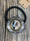 Native American Chief Glass Bubble Hair Tie