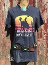 Burnin Daylight Tee - Ropes and Rhinestones