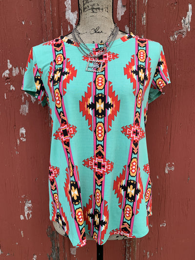 Brushpopper Aztec Top