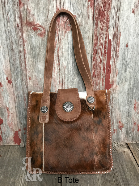 Cowhide Concho Tote - Ropes and Rhinestones