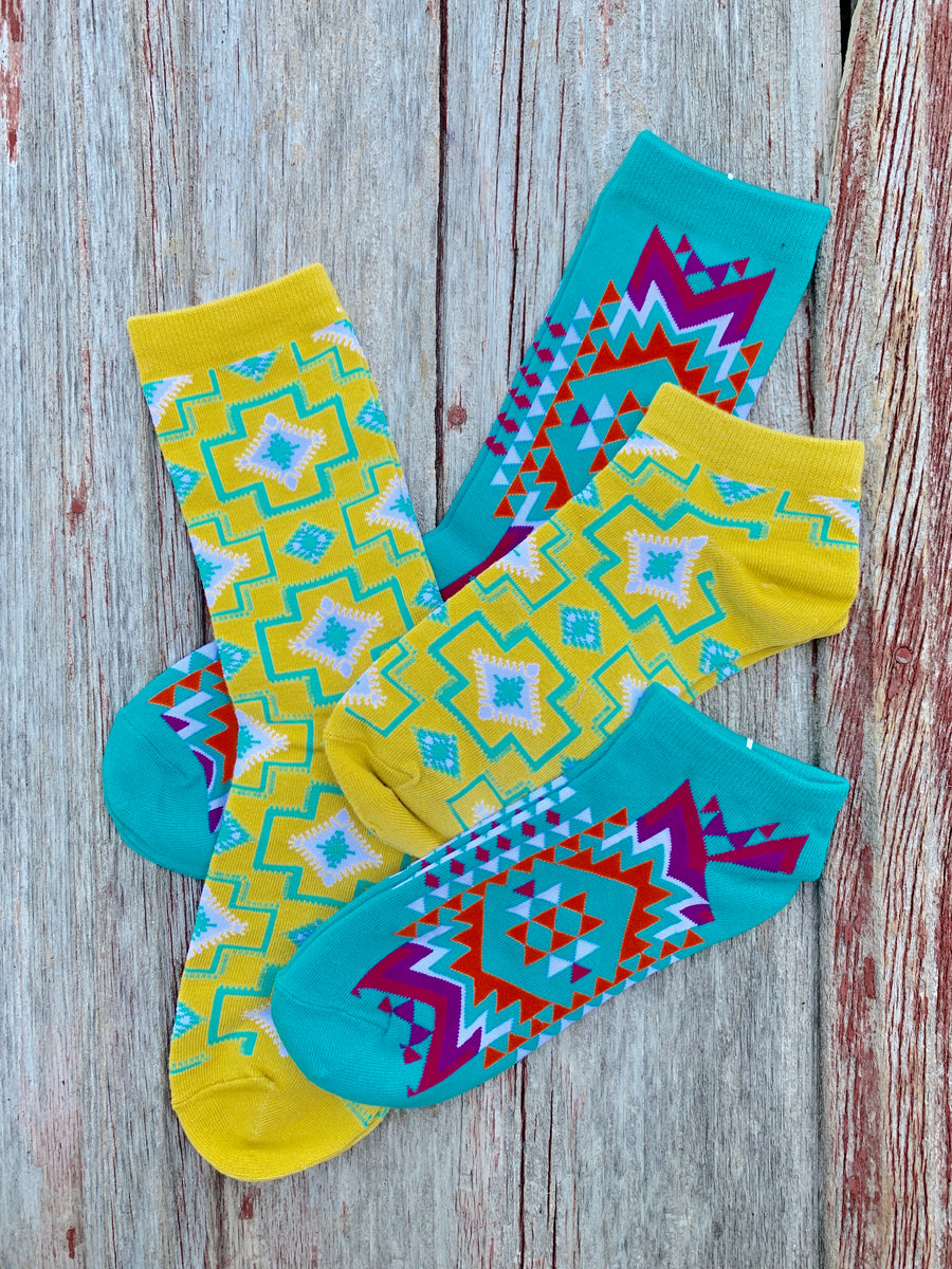 Sock n Roll Aztec Socks