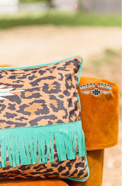 Lounger Leopard  Aztec & Fringe Pillow