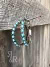 Turquoise Large Hoop Earrings
