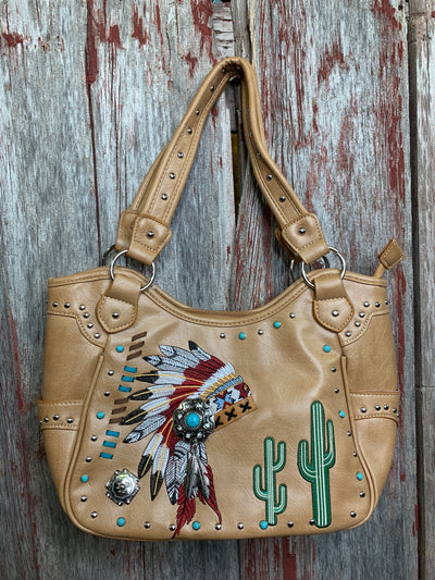 Big Chief Concealed Carry Purse - Ropes and Rhinestones