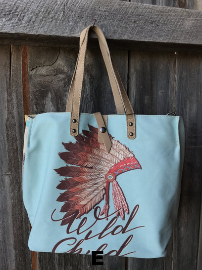 Western Canvas Tote Bag