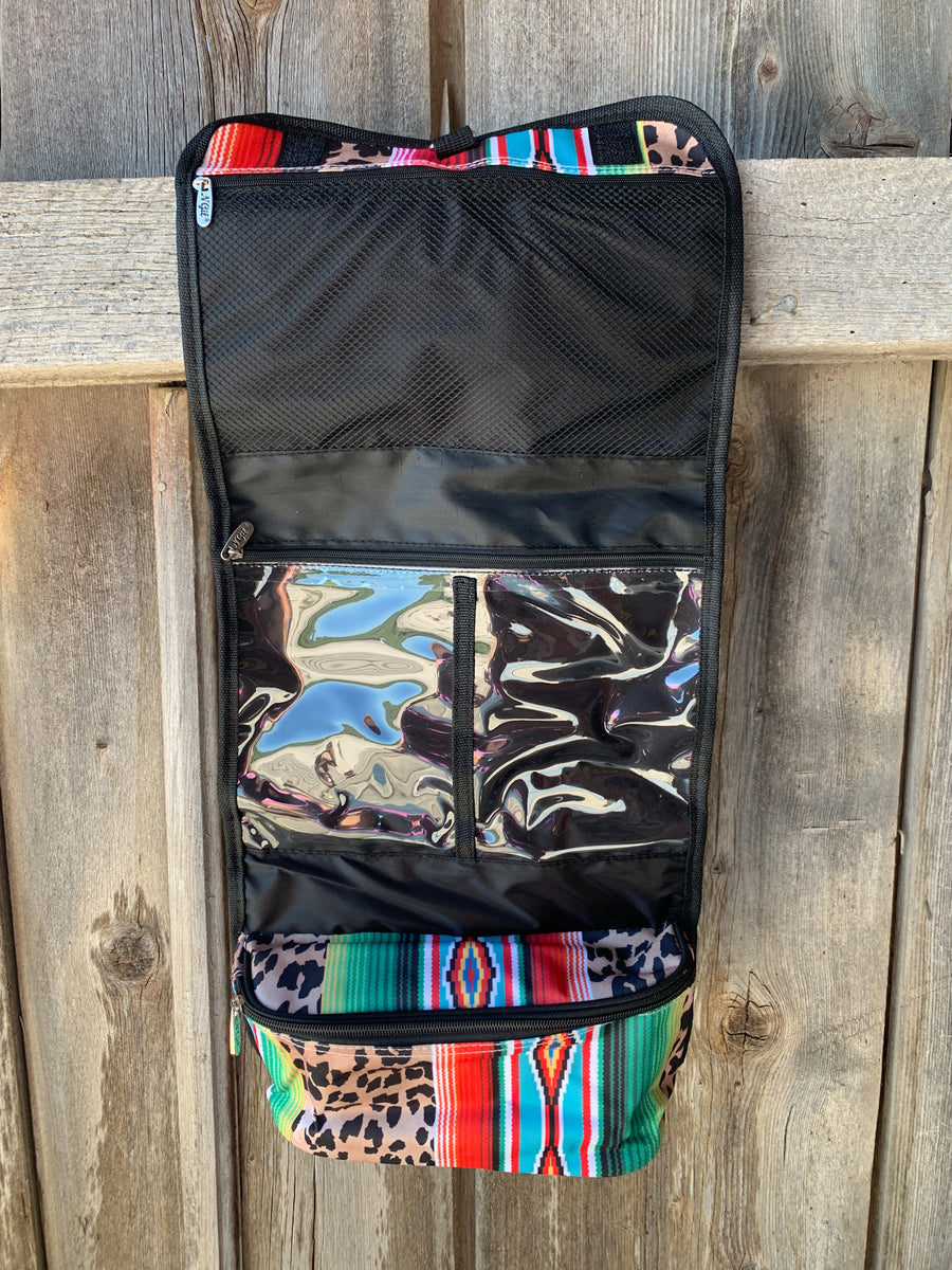 Leopard Serape Print Traveling Toiletry Bag