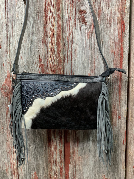 Cowhide Cassidy Fringe Purse