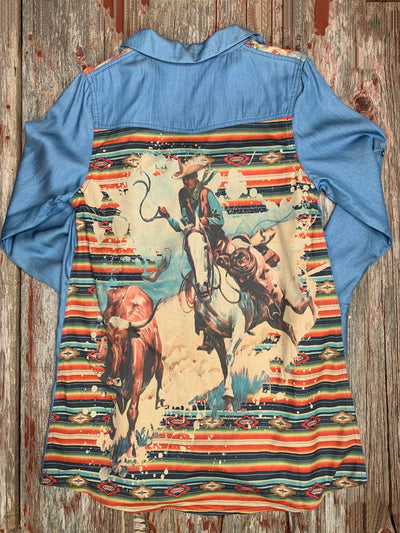 Roping Cowboy Chambray Tunic