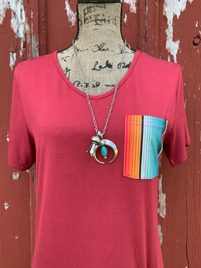 Sour Patch Serape Pocket Knot Top