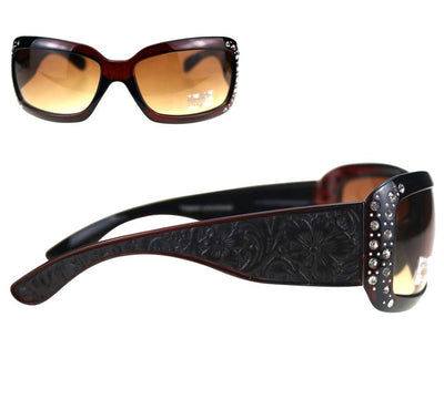 Tooled Leather Sunglasses