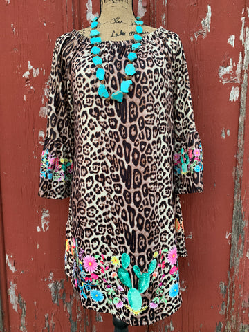 Leopard & Cactus Dress/Tunic