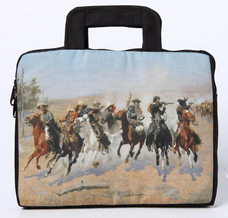Western Print Laptop Bag