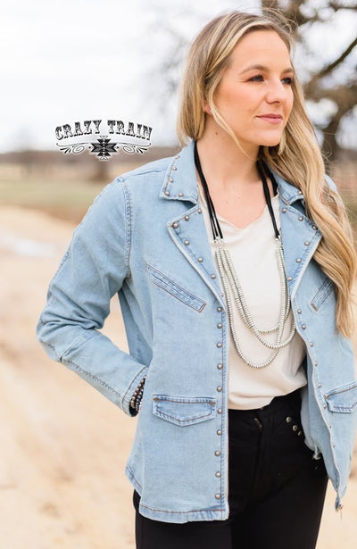Stud Queen Denim Jacket