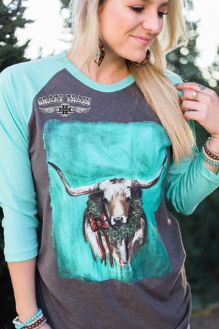 Texas Tidings Baseball Tee