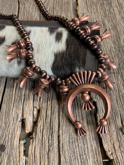 Copper Canyon Squash Blossom Necklace