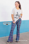 90 or Nothin Aztec Cactus Bell Bottom Pants - Ropes and Rhinestones