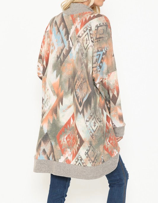Aztec Watercolor Cardigan