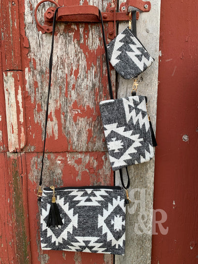 Black Aztec Blanket Purses