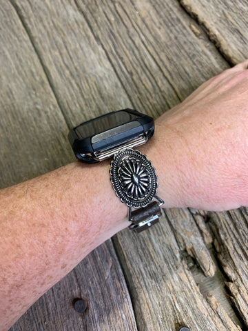 Silver Concho Apple Watch Band