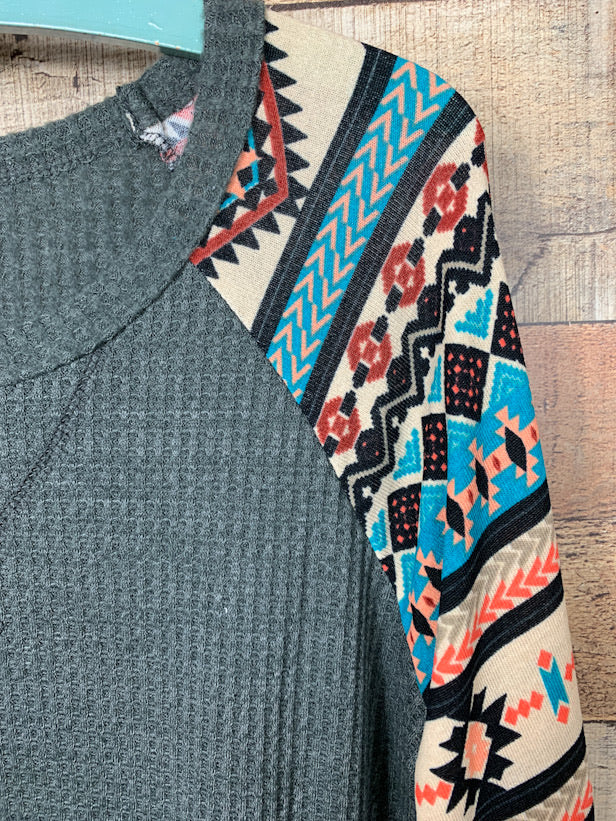Aztec Sleeve Thermal Top