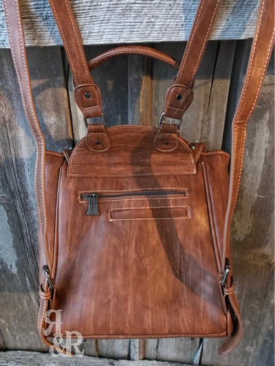 Tooled Leather Backpack