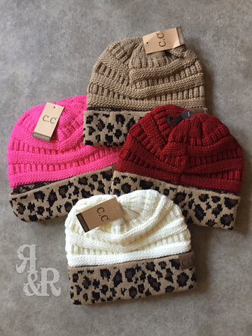 CC Leopard Beanie - Ropes and Rhinestones