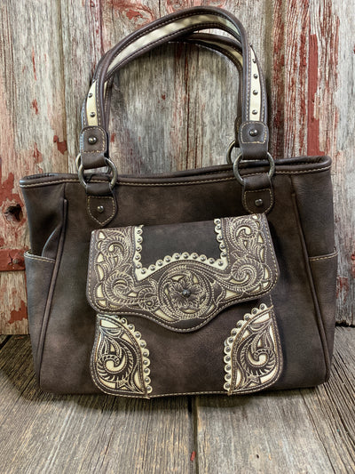 Western Embroidered Filigree Tote