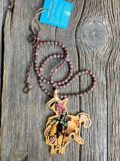 Rodeo Wild West Leather Necklace